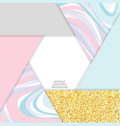 Trendy colors abstract background glitter gold vector