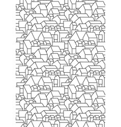 Vertical black and white pattern with simple house vector