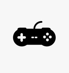 video game control joystick flat icon videogame vector image