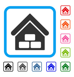 warehouse framed icon vector image