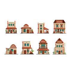 western buildings wild west architectural vector image
