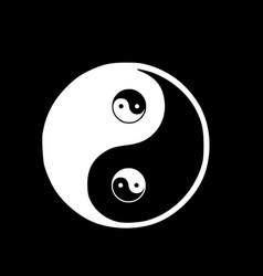ying yang the symbol of harmony and balance vector image