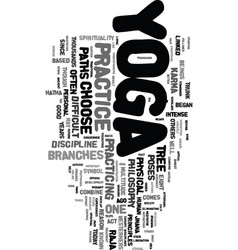 Yoga paths text word cloud concept vector