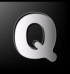 letter q sign design template element vector image vector image