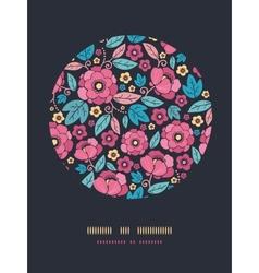 Night Kimono Blossom Circle Decor Pattern vector image