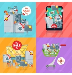 Set of Banners Household Appliances E-commerce vector image vector image