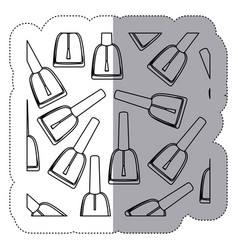 sticker monochrome silhouette with nail polish vector image