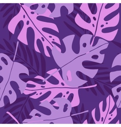 Violet tropical leafs vector
