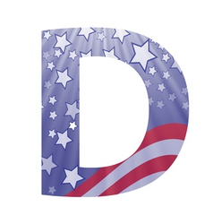 american letter D vector image vector image