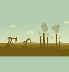 construction industry silhouette landscape vector image vector image