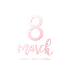 elegant greeting card design for womens day vector image