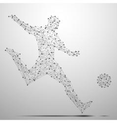 footballist poly gray vector image vector image