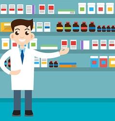 male pharmacist vector image