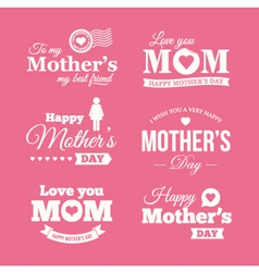 mothers day logo vector image vector image
