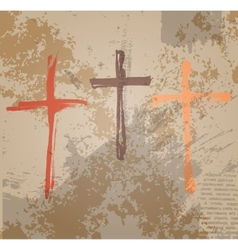 Three crosses vector