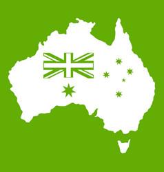 australia icon green vector image