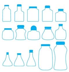 bottles set vector image