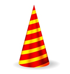 Bright festive party hat vector image vector image