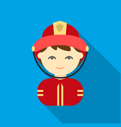 fireman flat icon for web and mobile vector image