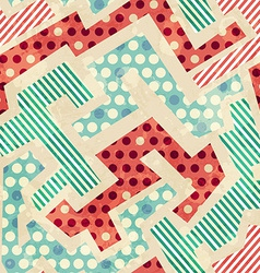 geometric cloth seamless pattern with grunge vector image