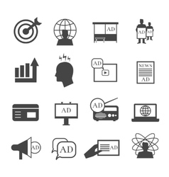 Marketing icons Market sales and representative vector image vector image