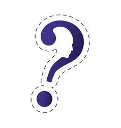 question mark shape head image vector image