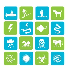 Silhouette Warning Signs for dangers vector image vector image
