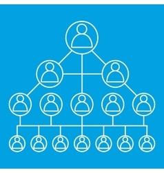 Social media network line icon vector