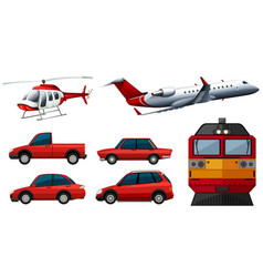 different designs of transportations vector image