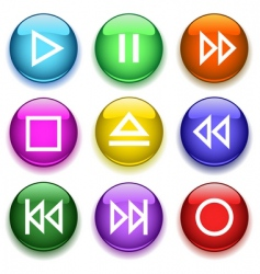 glossy buttons3player vector image