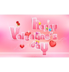 Happy Valentines Day Love Background vector image vector image