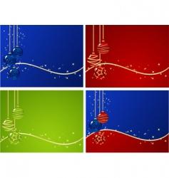 set christmas backgrounds vector image