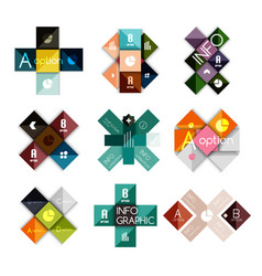 Set of cross infographic templates vector