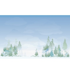 winter landscape vector image vector image