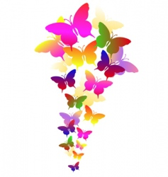 abstract background with butterflies vector image