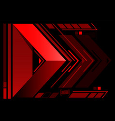 abstract red arrow technology vector image