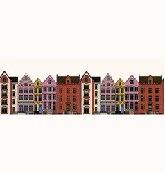 amsterdam houses seamless pattern urban vector image