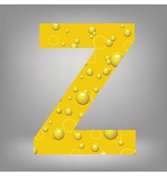 Beer letter Z vector