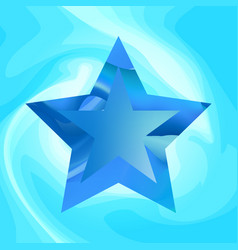 Blue star background vector