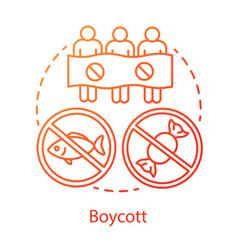 Boycott concept icon public demonstration product vector