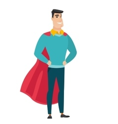 Businessman wearing a red superhero cloak vector image