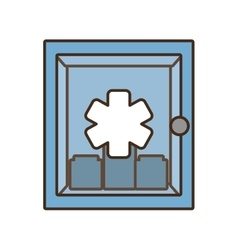 Cabinet first aid kit medical cross symbol vector