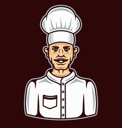 Chef in cartoon style colored vector