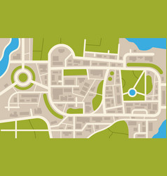 city navigation map flat plan streets parks vector image