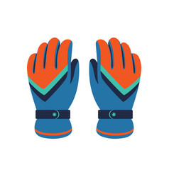Climbing winter gloves isolated icon vector