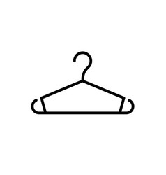 clothes hanger glyph icon or clothing sign vector image