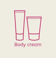 Cosmetic body cream icon vector