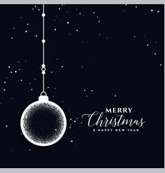 Creative merry christmas ball decoration festival vector