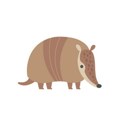 Cute armadillo pleistocene animal cartoon vector