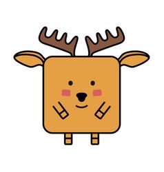deer elk emoji vector image